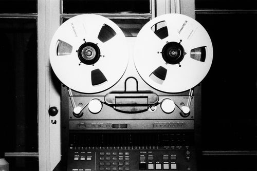 Photo of master tape studio recording equipment