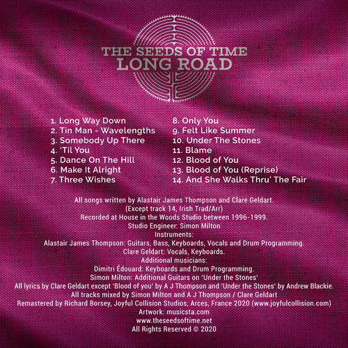 Back cover for Long Road album by The Seeds of Time