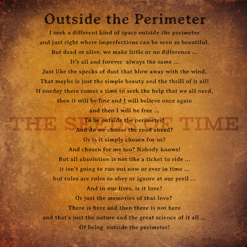 Art for upcoming album Outside the Perimeter by The Seeds of Time