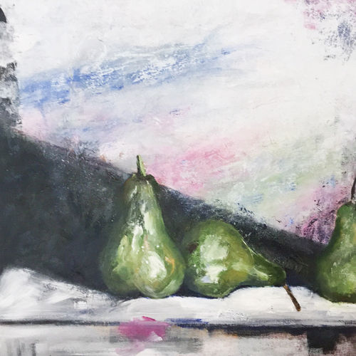 Still life painting of pears by Lois Winter