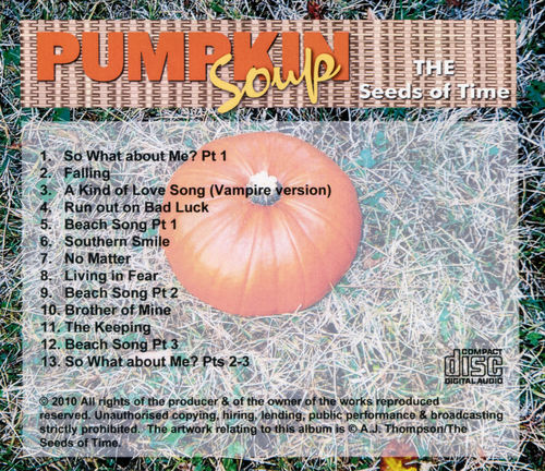 Back cover for Pumpkin Soup album by The Seeds of Time