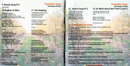 Picture of booklet for Pumpkin Soup album by The Seeds of Time